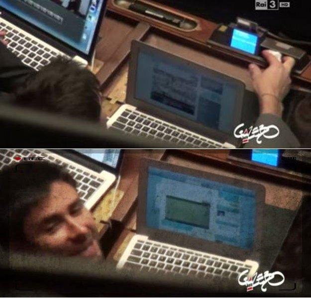 Di Battista, durante le votazioni in aula, guardava una partita di calcio (lui stesso ammise sulla sua pagina Facebook di averlo fatto)