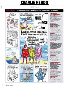 L'ultima pagina del settimanale francese