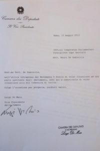 Il documento di rinuncia firmato Luigi Di Maio