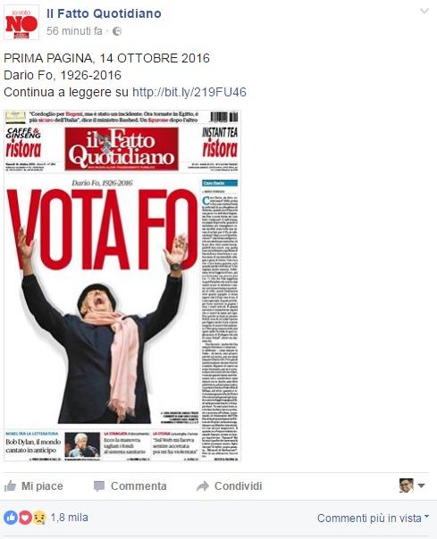 """""""Vota Fo"""" - Il Fatto Quotidiano"""