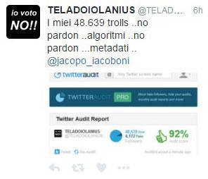 Se vince il #No il risultato verrà rigettato perchè avranno votato gli #algoritmi e i #metadati #Referendum4dicembre #CyberAttacco
