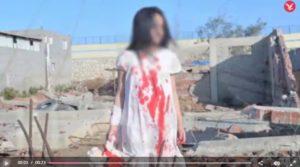 Uno dei fotogrammi dei video girati dal gruppo di falsari.