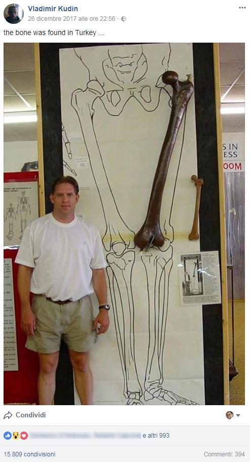 BUFALA Il femore gigante trovato in Turchia