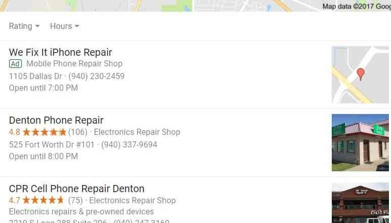 Cell Phone Repair searches in Denton Tx – Want to be in the