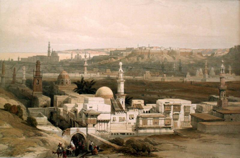 Каир, литография Луи Хаге