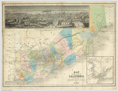 Map of the State of California    Vincent   1860