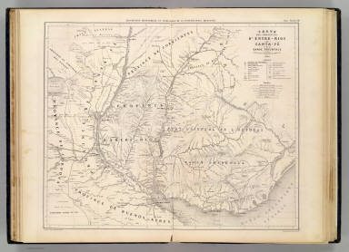 Carte, Entre-Rios, Santa-Fe, Bande Orientale. by Martin de Moussy, V. (Victor), 1810-1869 from 1873