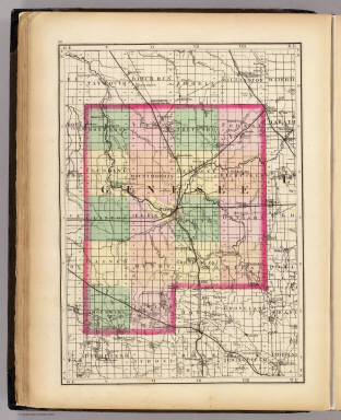 Map Of Genesee County Michigan Walling H F 1873