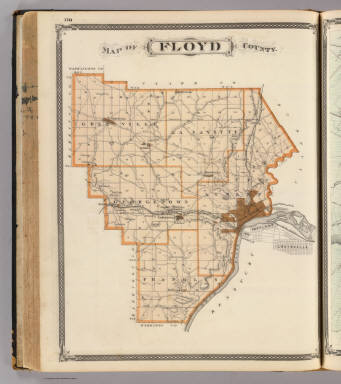 Map Of Floyd County Andreas A T Alfred Theodore