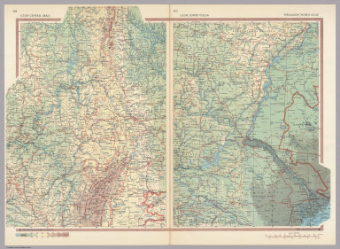 Browse All   Atlas Map and World Atlas of Ural Mountains   David     U S S R    Central Urals  U S S R    Lower Volga  Pergamon World Atlas