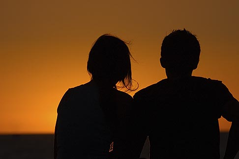 Image result for Couple Silhouette Watching Sunset