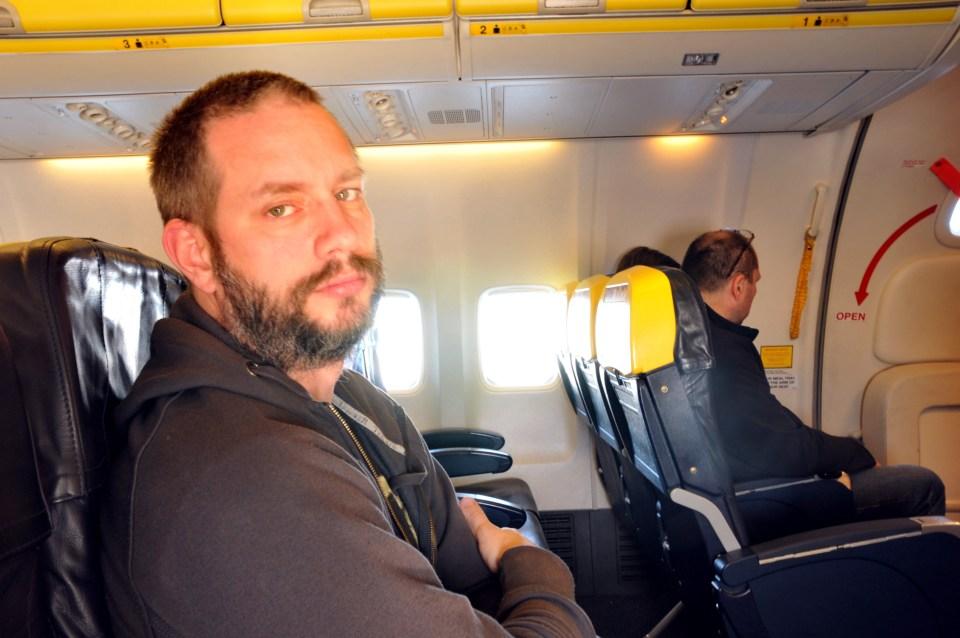 David-på-flyet