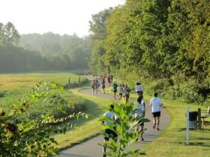 Runners on Greenway Mile 3 Kris Krider