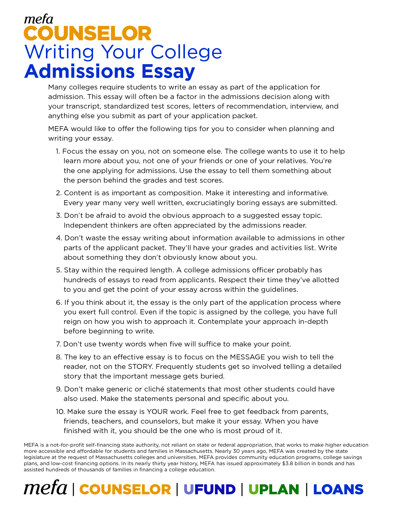 What Should I Write My College Application Essay About