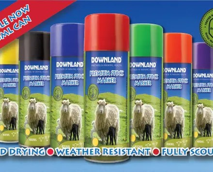 DOWNLAND MARKER GREEN AEROSOL 450ML-0