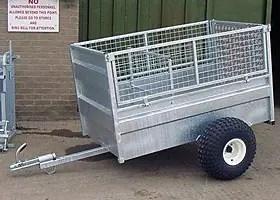 ATV SHEEP TRAILER 5' X 3' HALF MESH SIDES-0