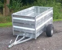 ATV SHEEP TRAILER 5' X 3' SOLID SIDES-5374