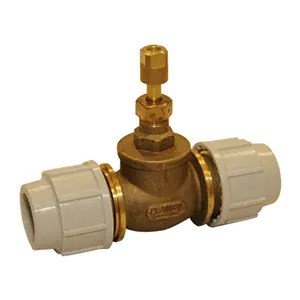 PLASSON BRASS STOP TAP 32MM-0