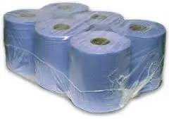 BLUE 2 PLY BLUE PAPER CENTREFEED TOWEL PK OF 6-0