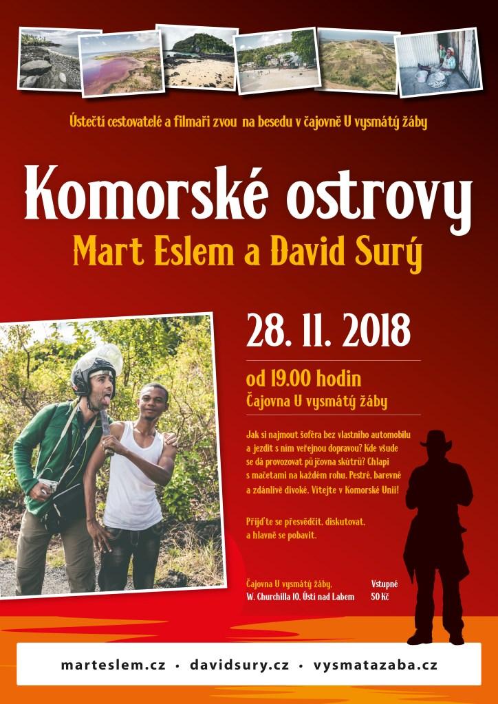 Komorské ostrovy – beseda (Ústí nad Labem) Vysmátá žába David Surý Mart Eslem