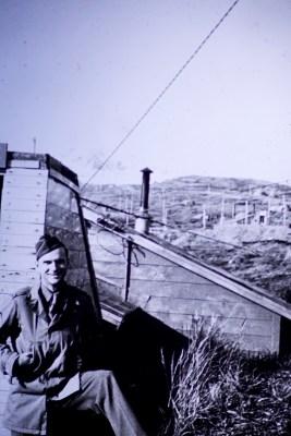 Attu, Alaska - Me in front of our hut