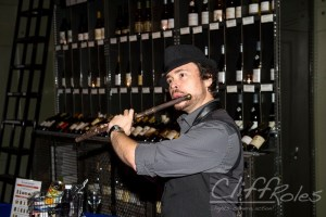 David Turner, Sarasota saxophonist, playing flute at the Wine Cellar at Michael's on East in Sarasota.