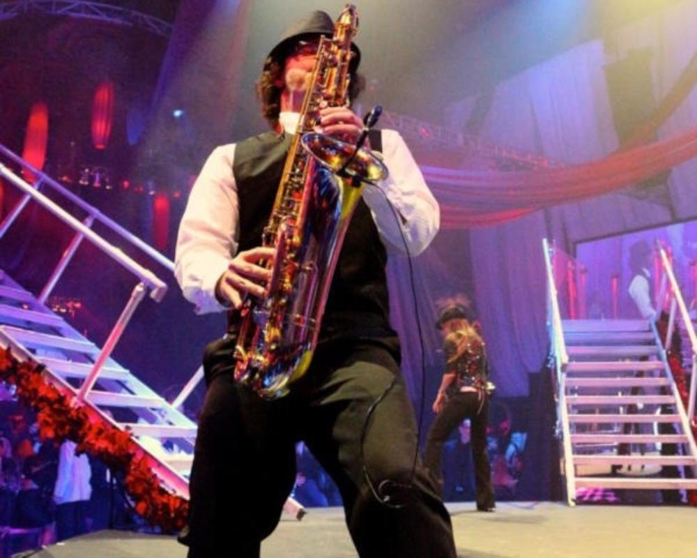 Hard Rock Sax Player from Sarasota