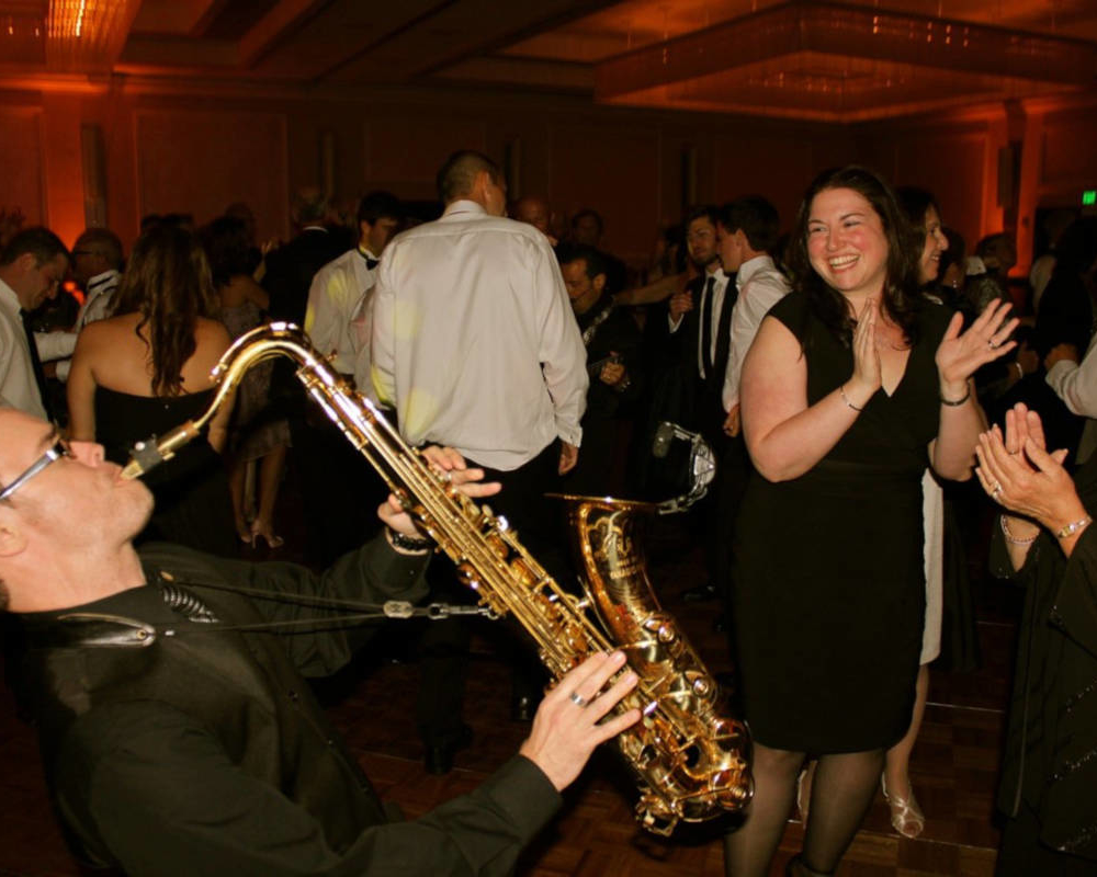 Wedding Dance Floor Saxophonist