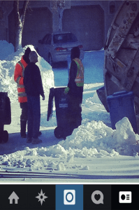 David Zinger Recognizing the Garbage Men On a Cold January Day