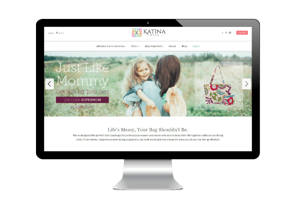 Katina Bags Website Design