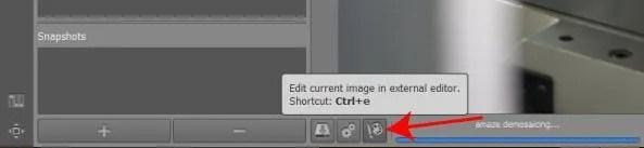 Edit in External Editor RAWTherapee