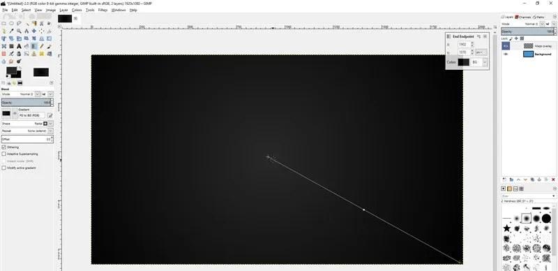 使用新的混合工具GIMP 2.9進行繪圖