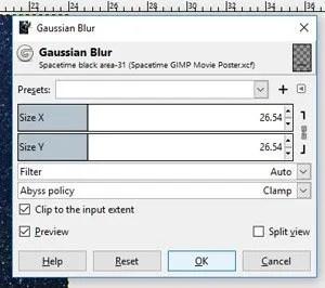 Ugrás a Szűrők, Blur, Gauss-Blur-ra
