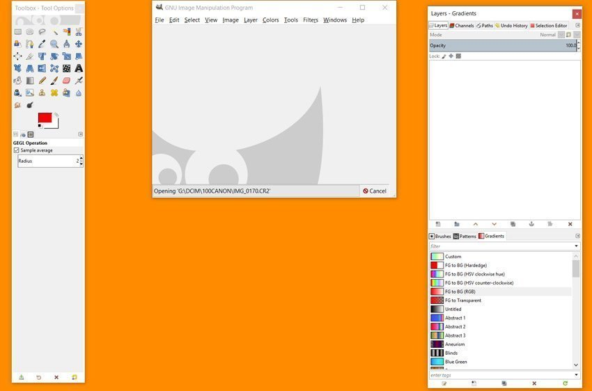 Modalità Multi Window di GIMP