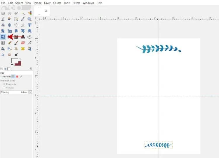 Flip Your Object A Flip Tool GIMP 2.10.8 segítségével