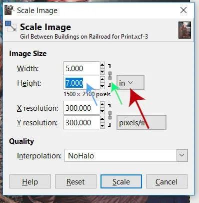 Scale Image Dialogue Box White Border GIMP Tutorial
