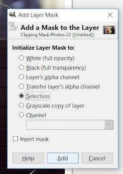 Initialize Layer Mask to Selection GIMP 2 10 Clipping Mask