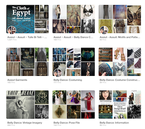 A few of the numerous Pinterest Boards I've created over the years.
