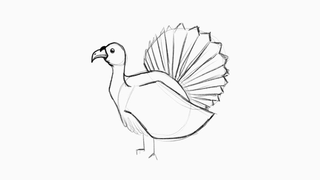 Tutorial on how to draw a turkey