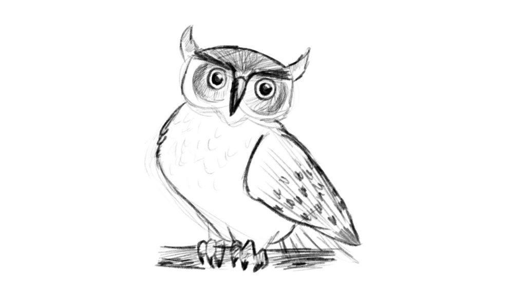 How to draw an owl in 2 minutes!