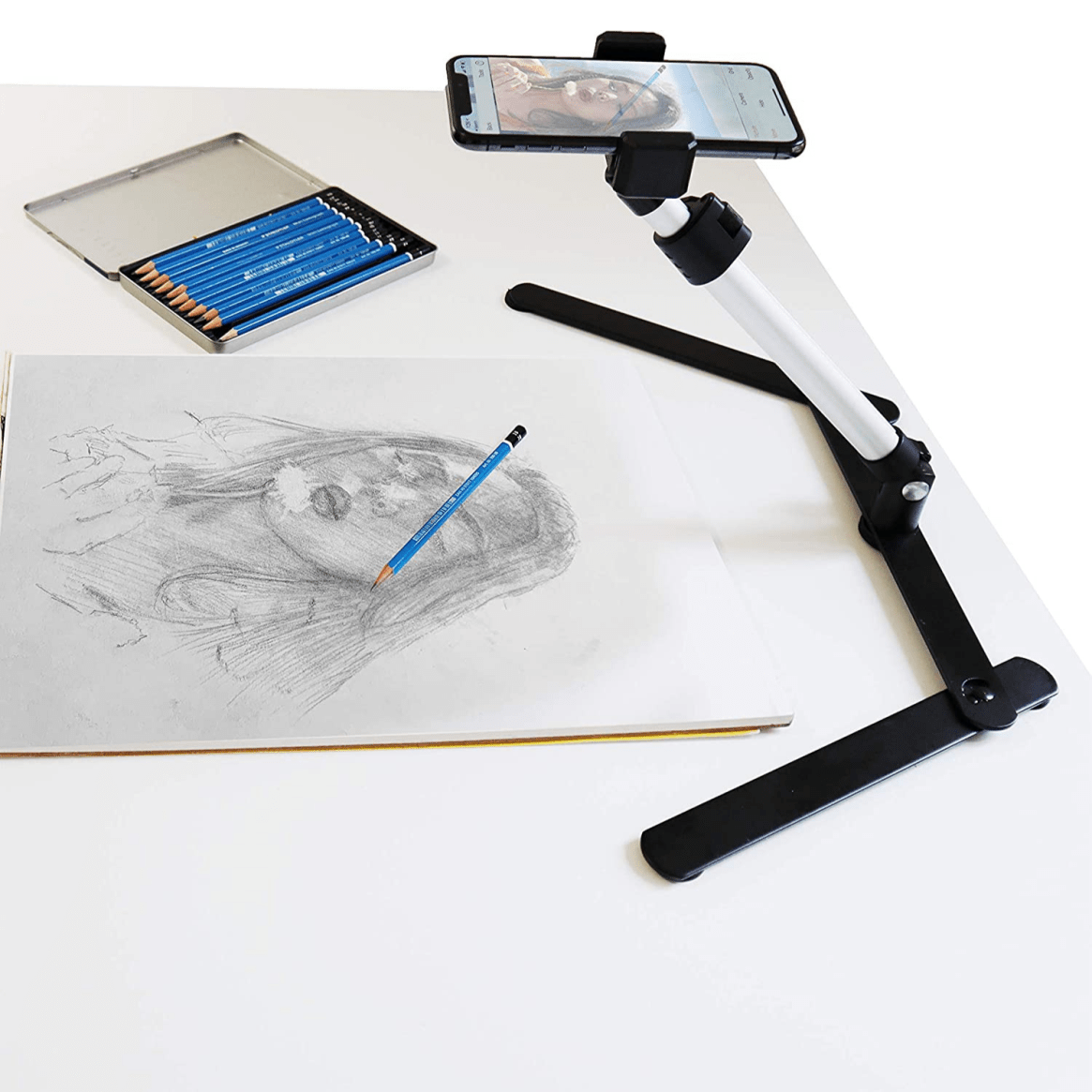 Desk Phone Stand for Drawing Tracing Images