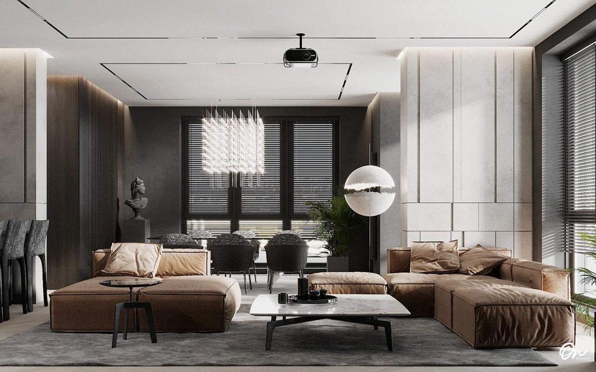 home designing darkly decorated open