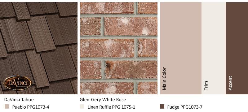 Tan Brick Home Color Combinations