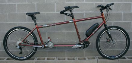 S&S Coupled Electric Assist Joint Adventure mountain hybrid tandem bike