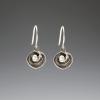 DaVine Jewelry, Dark Silver Shell and Pearl Dangle Earrings