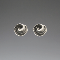 DaVine Jewelry, Dark Silver Inner Shell Spiral Post Earrings