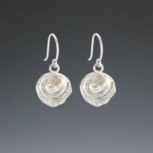 DaVine Jewelry, Silver Inner Shell Spiral Dangle Earrings