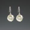 DaVine Jewelry, Silver Shell and Pearl Dangle Earrings
