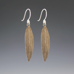 DaVine Jewelry, Bronze Sage Leaf Dangle Earrings