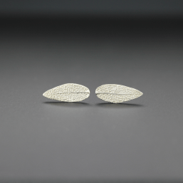 DaVine Jewelry, Sterling Silver Sage Leaf Stud Earrings